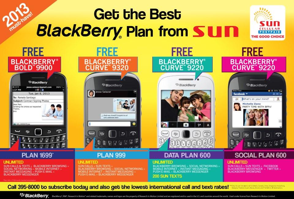 Sun BlackBerry Plans