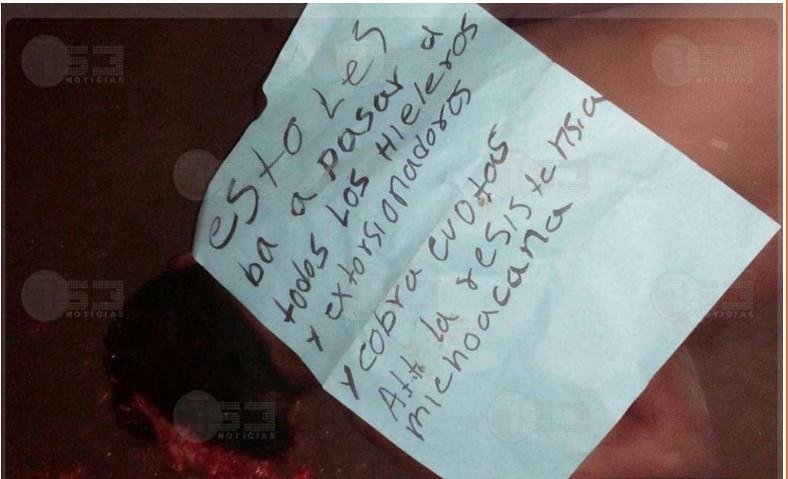 Surge Cartel LA RESISTENCIA MICHOACANA deja ejecutado en Lázaro Cárdenas