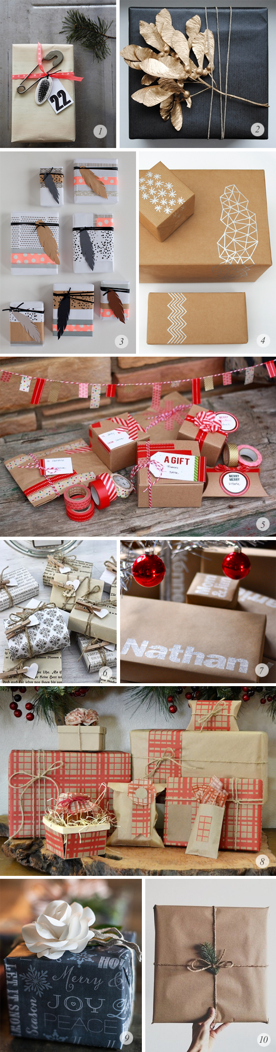 10 Great Holiday Gift Wrapping Ideas // Bubby and Bean