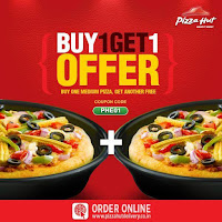 Buy 1 get 1 free pizza offer