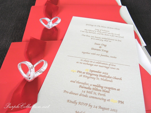 red card, chinese wedding card, wedding ring card, double happiness card, pocket wedding card, red satin ribbon, red envelope, metallic beige card, i love you wedding ring card
