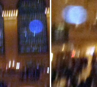 orb in blurred photo