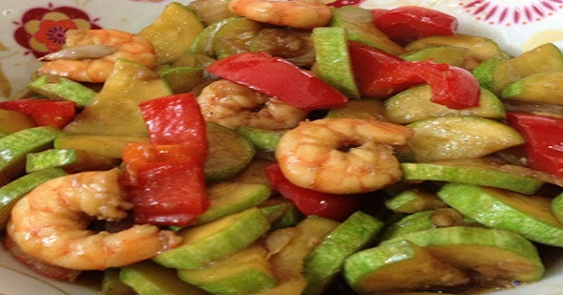 Shrimp Zucchini In Oyster Sauce Recipe
