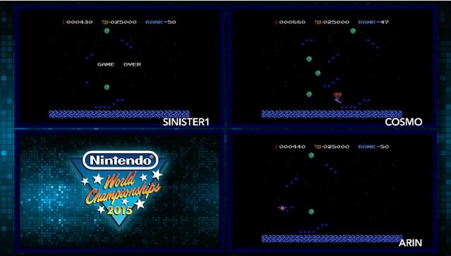 Nintendo World Championships Balloon Trip Underground elimination Sinister1 Cosmo Arin