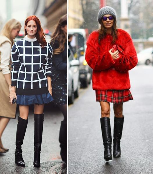 ботфорты, высокие сапоги, кожаная обувь, обувь на зиму, с чем сочетать ботфорты, рекомендации, советы, секреты, блоггер, фешнблоггер, blogger south korea, seoul, сеул, корея, тренд, стиль, high boots, сочетание не сочетаемого, юбка преппи, джинсы, красивая, сексуальная девушка, секси гел, смелая девушка