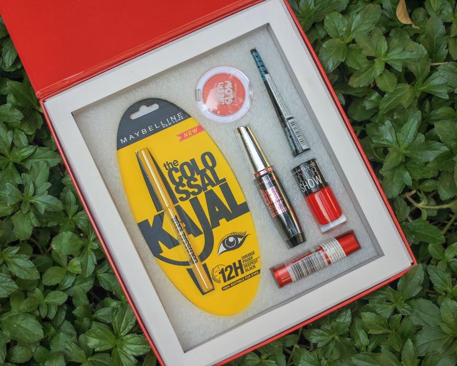Maybelline InstaGlam Box, Maybelline InstaGlam Box Content Christmas Gift, Red, Makeup, Budget Makeup