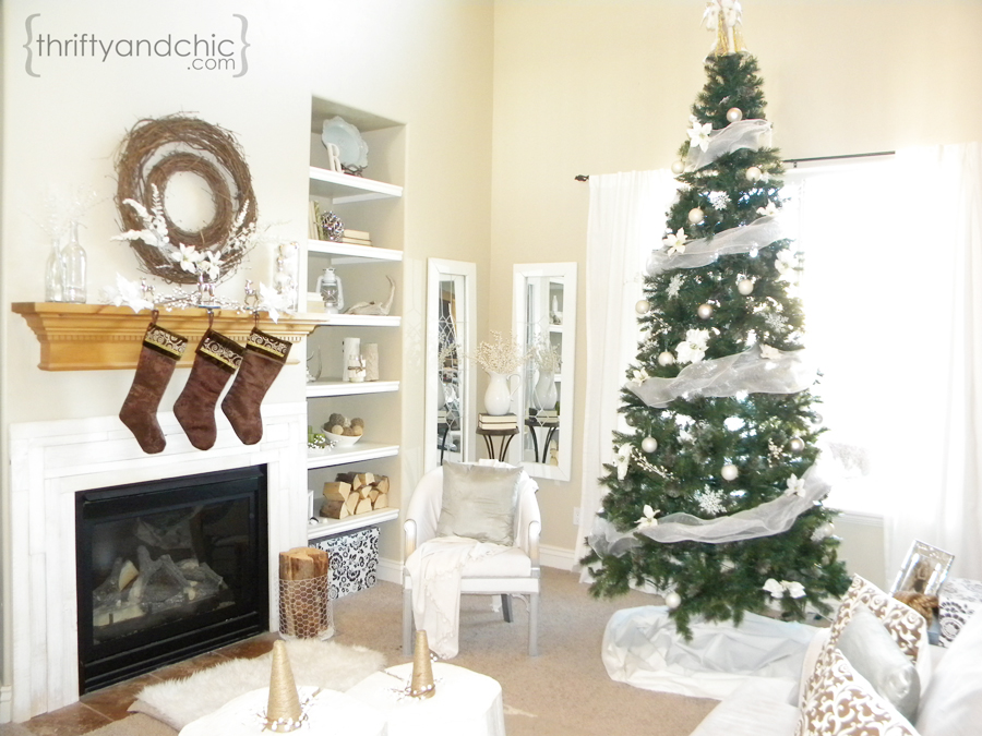 White Christmas Home Decor.Thrifty And Chic Diy Projects And Home Decor