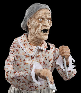Life Size Standing PSYCHO MOTHER BATES MOTEL Granny Horror Prop