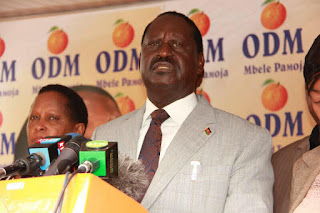 Raila Odinga in his address the Nation at Orange house. PHOTO | Courtesy