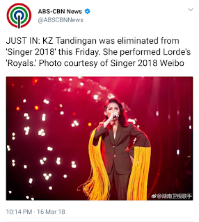 Tweet Scoop: KZ Tandingan Performs 'Royals', Ends 'Singer 2018' Journey
