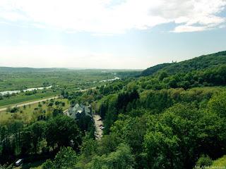 widok na dolinę wisły klasztor kamedułów zamek przegorzały