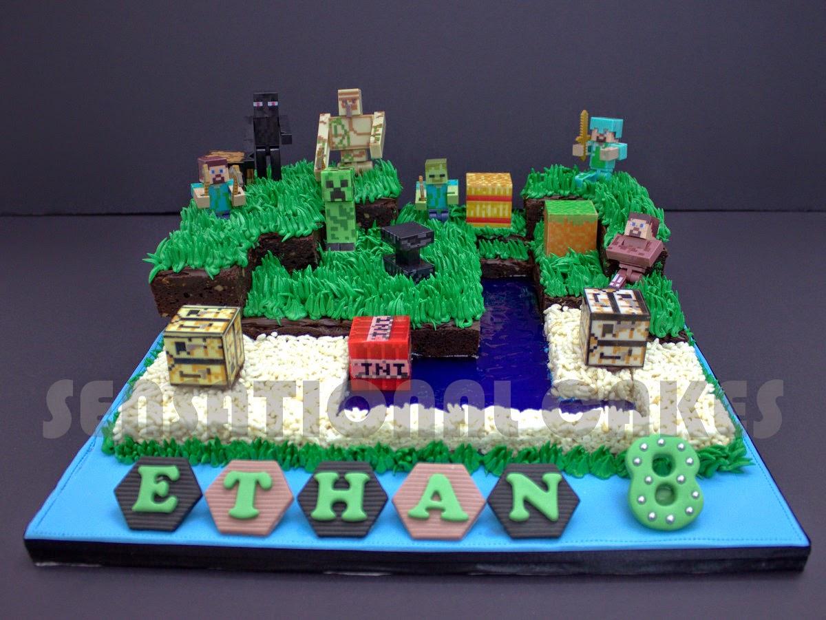 The Sensational Cakes Minecraft Cake Singapore Gaming