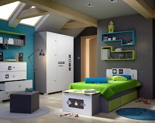 moderno dormitorio para niño