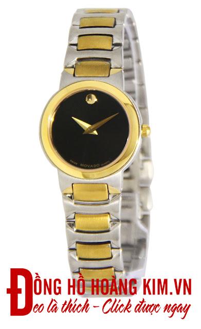 Đồng hồ đeo tay nữ Movado dây inox giá rẻ dưới 2 triệu