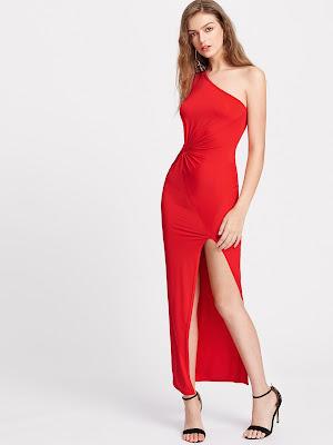 zapatos para vestido rojo largo