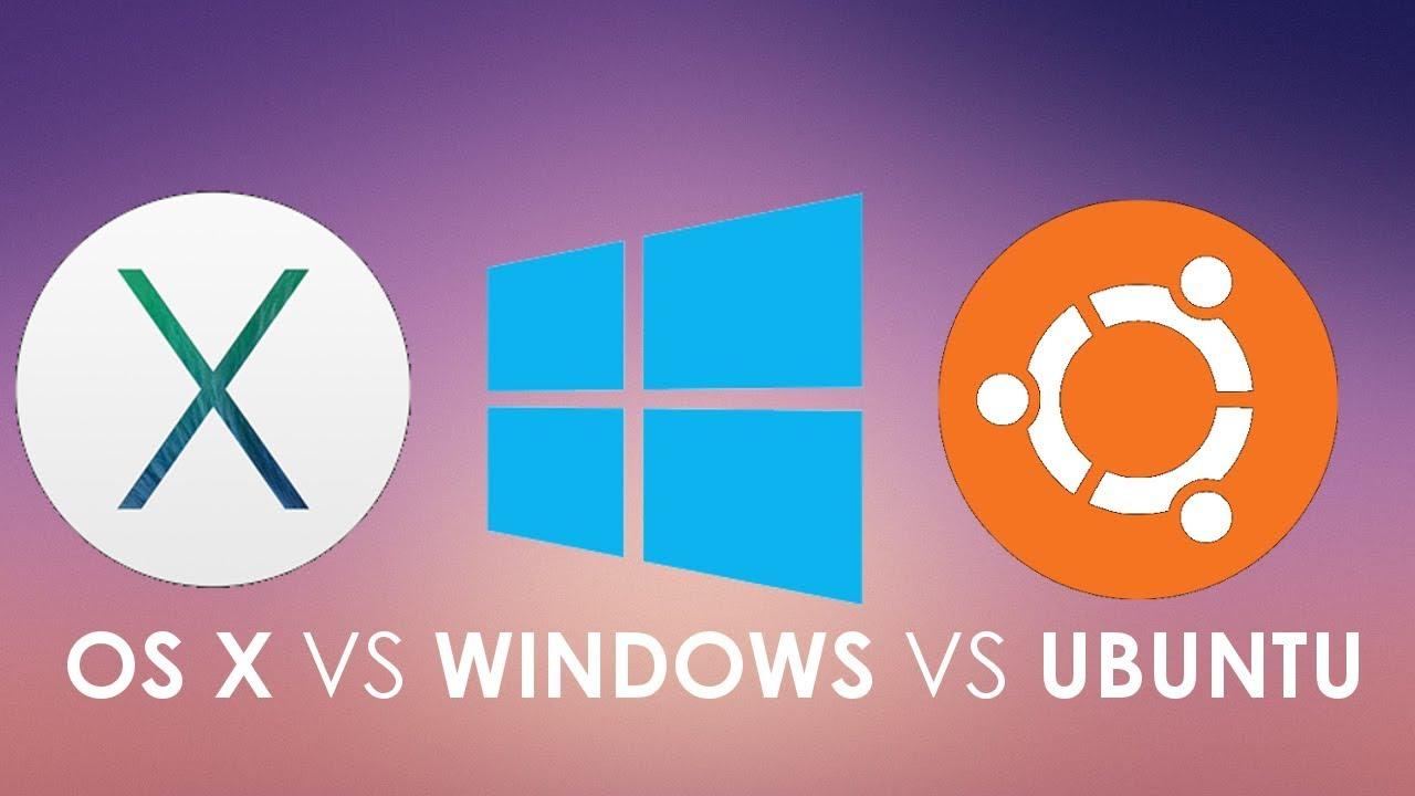 User Interface Comparision macOS vs Windows 10 vs Ubuntu