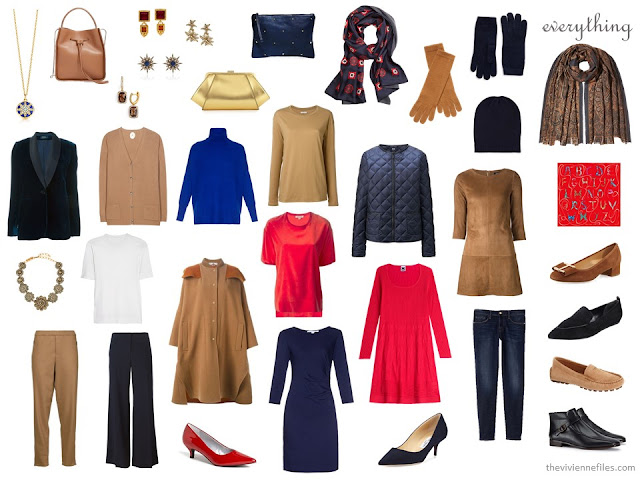 extravagant, expensive travel capsule wardrobe for a cold weather city vacation