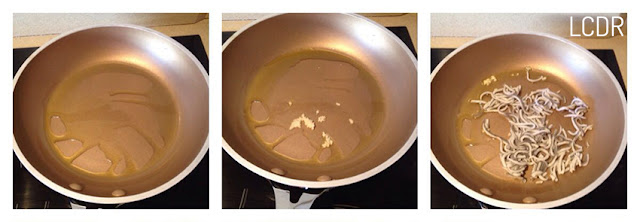 Receta de tosta de gulas con gambas y ajonesa 01
