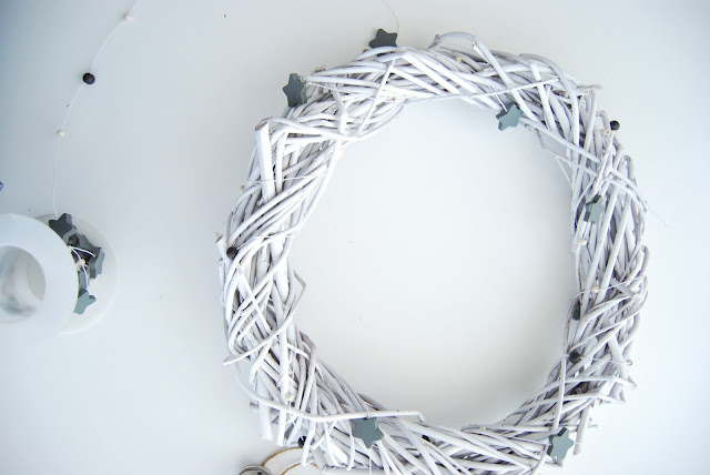 handmade white christmas wreath