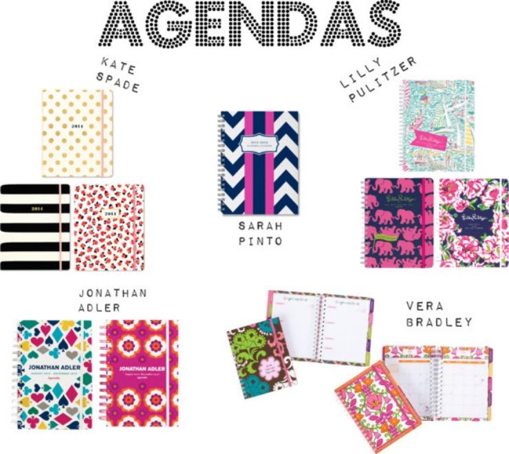 The Blush Blonde Cute School Supplies - school agenda