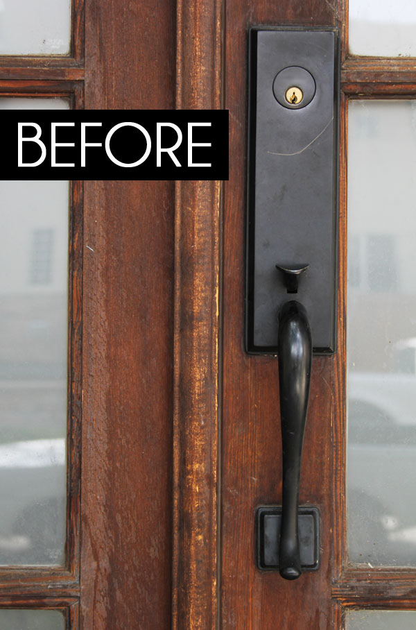 diy with style} A Smart Front Door Makeover | Blue i Style ...