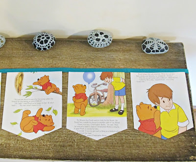 image winnie the pooh bunting christopher robin aa milne handmade upcycled domum vindemia children nursery baby