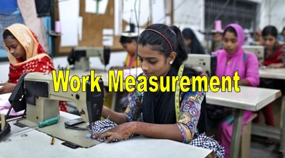 Work measurement in apparel manufacturing