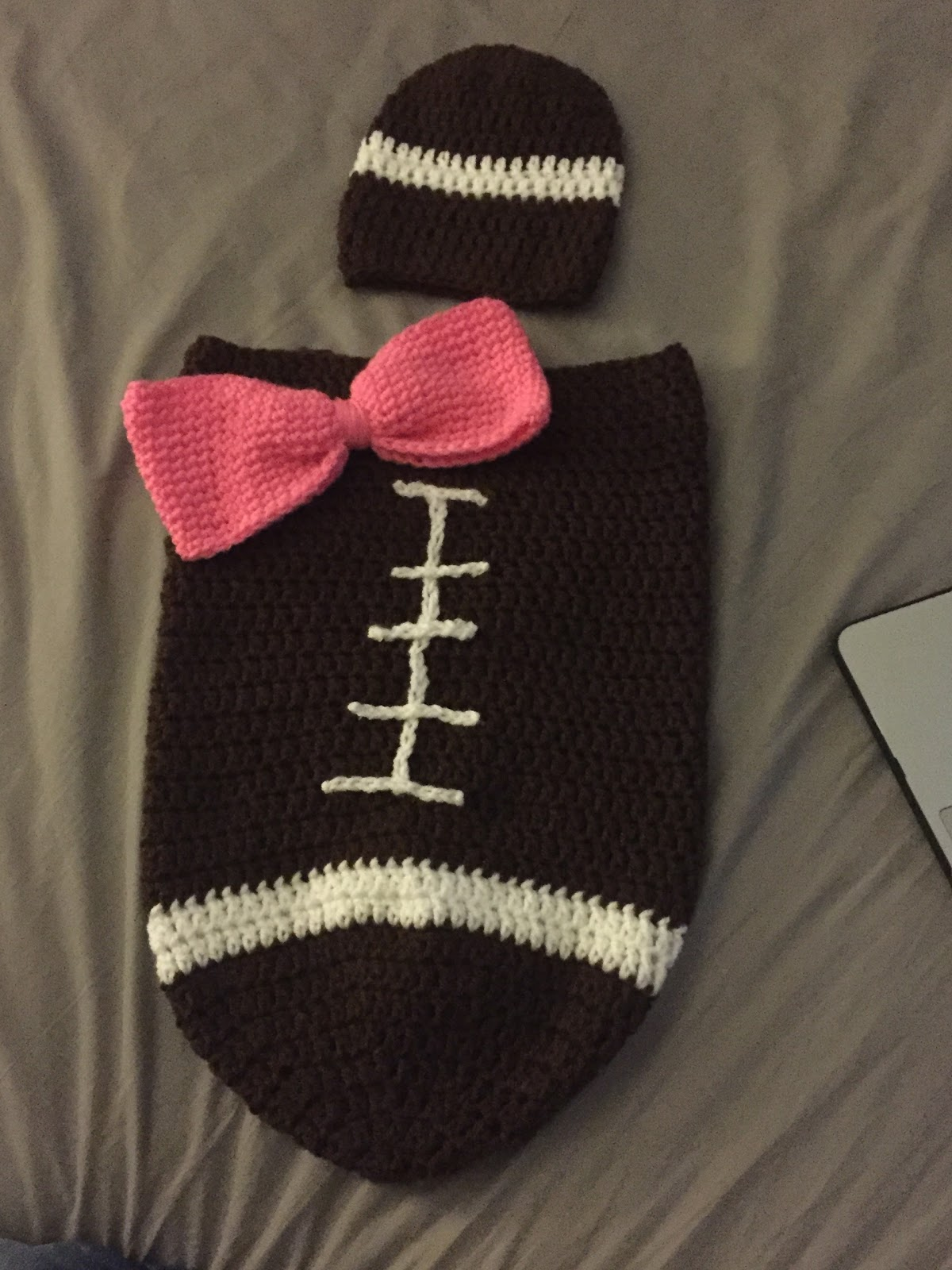 Organic Mom in the Kitchen: Crochet Football Cocoon
