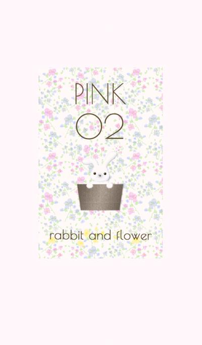 Rabbit&Flower / Pink02