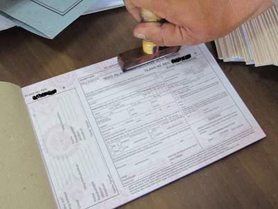 Stempel Polisi di Surat Tilang