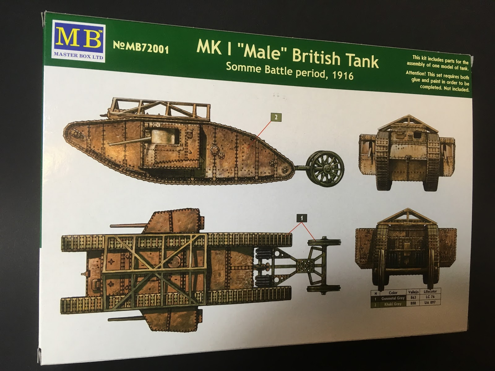 meditations on a hobby master box 1 72 mk i male british tank