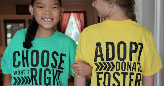 YOU pick STYLE, COLOR, and PRICE Adoption Fundraiser Shirts!!!!