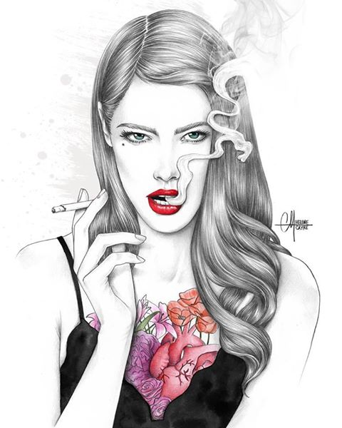 Art of the Day - Helene Cayre www.toyastales.blogspot.com #ToyasTales #HeleneCayre #illustration