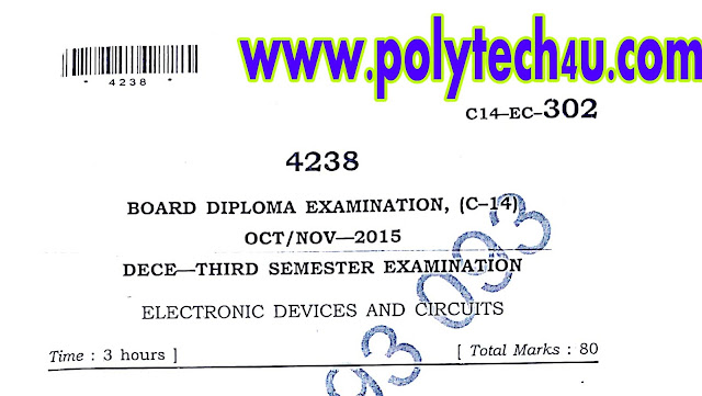 ELECTRONIC DEVICES AND CIRCUITS C-14 ECE QUESTION PAPER