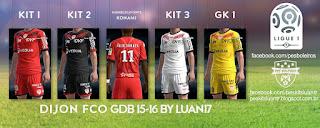 Kits Dijon Fco GDB 2015-2016 Pes 2013