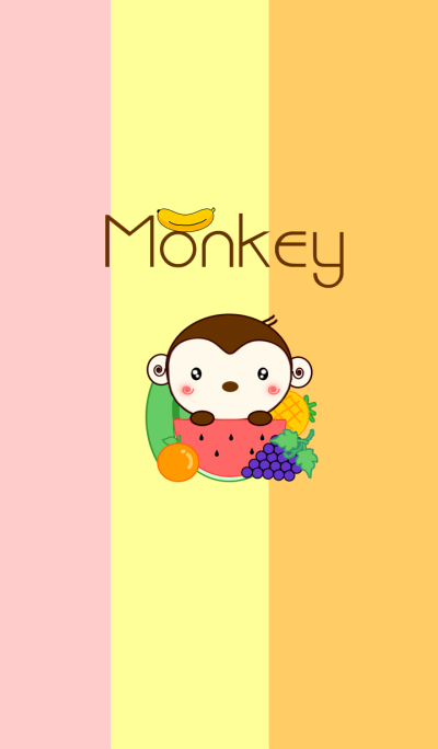 Monkey with Fruit