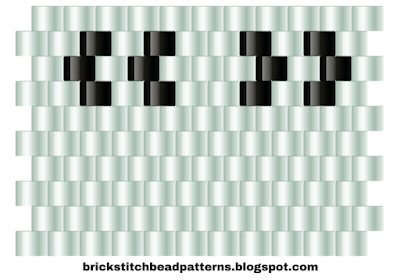 Free brick stitch beaded alphabet pattern quotation mark download.