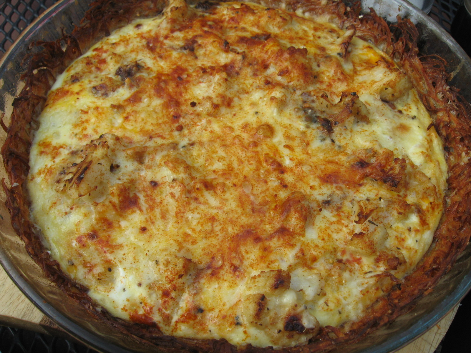 ... family) blog: Dinner, 8/5/16: Cauliflower Cheese Pie (Moosewood