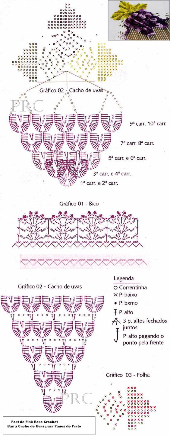 Patrones a crochet de centros de mesa y puntillas