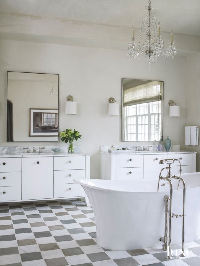 Provence style French chateau luxurious bathroom in Houston - found on Hello Lovely Studio