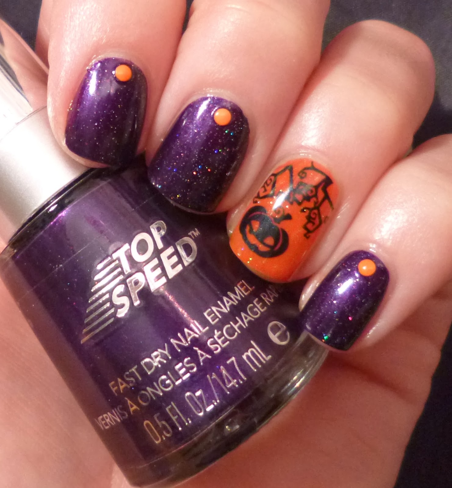 Lou is Perfectly Polished: Halloween Nails: Purple and ...