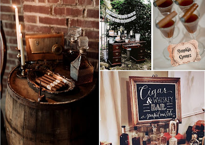 bar à cigare et whisky mariage