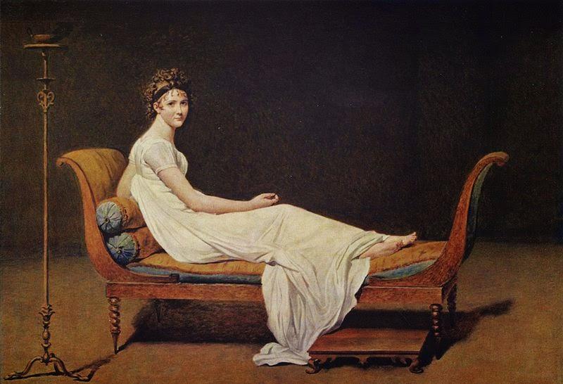 Madame Recamier - David, Jacques-Louis e suas principais pinturas ~ Representante do neoclassicismo