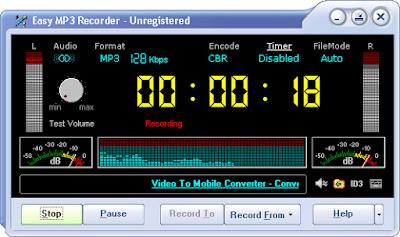 تحميل برنامج تسجيل الصوت Easy MP3 Recorder