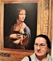 "Reprodukcja Leonarda da Vinci ""Dama z gronostajem"""