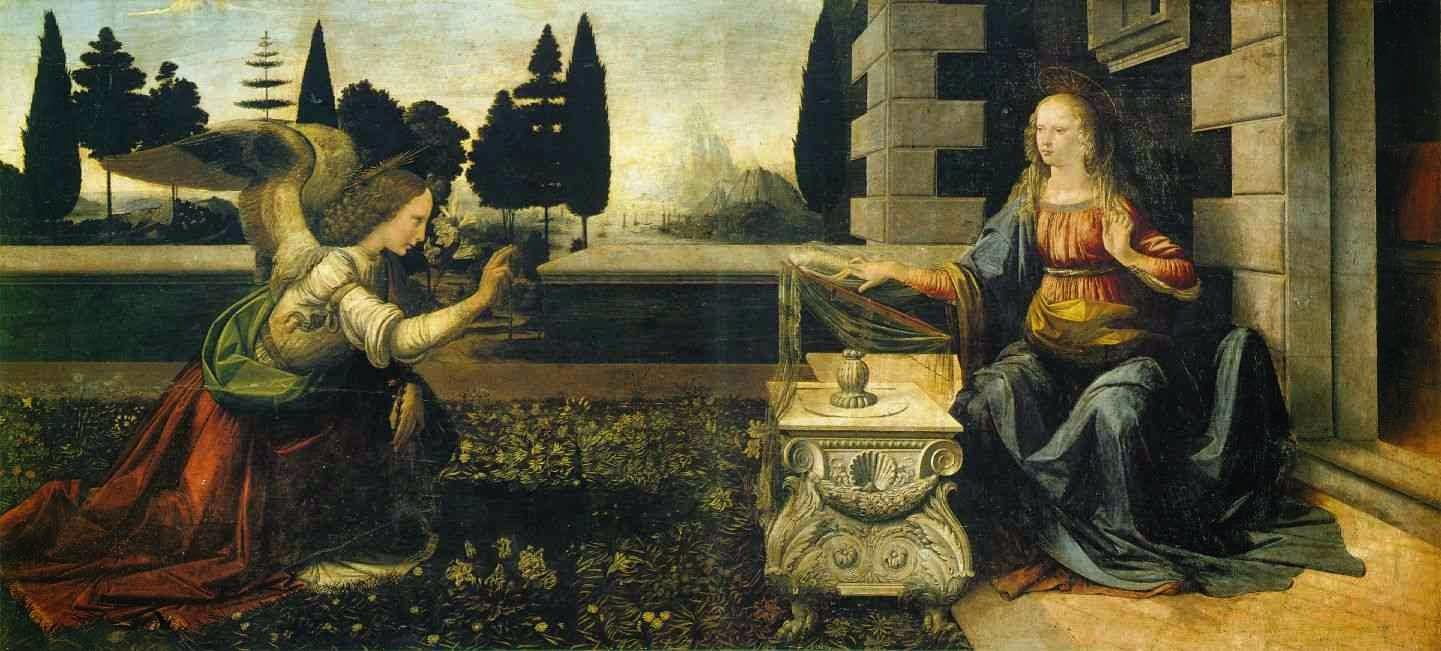 Anunciação - Leonardo Da Vinci | O maior artista de todos os tempos