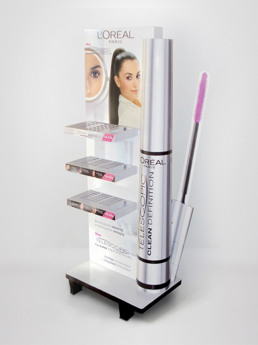 expositor de carton para cosmetica