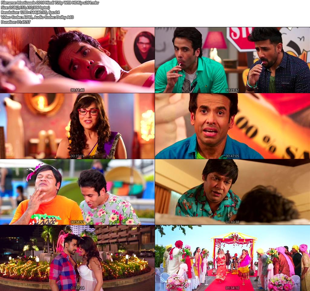 Mastizaade 2016 Hindi 720p WEB HDRip x264 | 480p 300MB | 100MB HEVC Screenshot