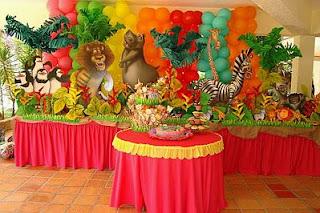 Madagascar Children Party Ideas Decoration
