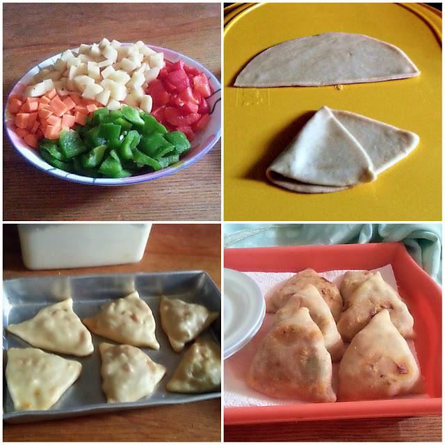Baked Veggie Samosa Recipe  @ treatntrick.blogspot.com